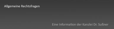 Allgemeine Rechtsfragen in Starnbeg und München - Abgrenzung und Unterschied zur präzisen Rechtsfrage