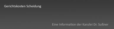 Gerichtskosten Scheidung Starnberg & München - Informationen zur Höhe der gerichtlichen Kosten bei einer Scheidung vor dem Familiengericht