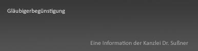 Gläubigerbegünstigung Starnberg & München - Vorteilsgewährung für Gläubiger während der Krise, obwohl diesen keine Befriedigung zusteht
