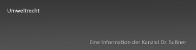 Umweltrecht Starnberg & München