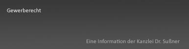 Gewerberecht Starnberg & München