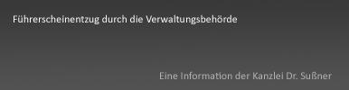 Entzug Fahrerlaubnis Verwaltungsbehörde Starnberg, Weilheim & München
