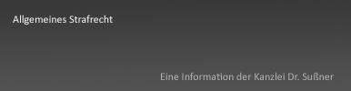 Allgemeines Strafrecht München Starnberg
