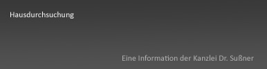 Hausdurchsuchung München Starnberg